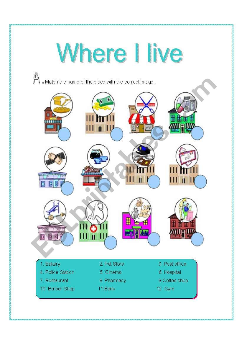 Where I Live Places Activities There Is There Are 2 Pages Esl Worksheet By Les The streets are packed during rush hour so i'd get rid of all the cars if i could. where i live places activities