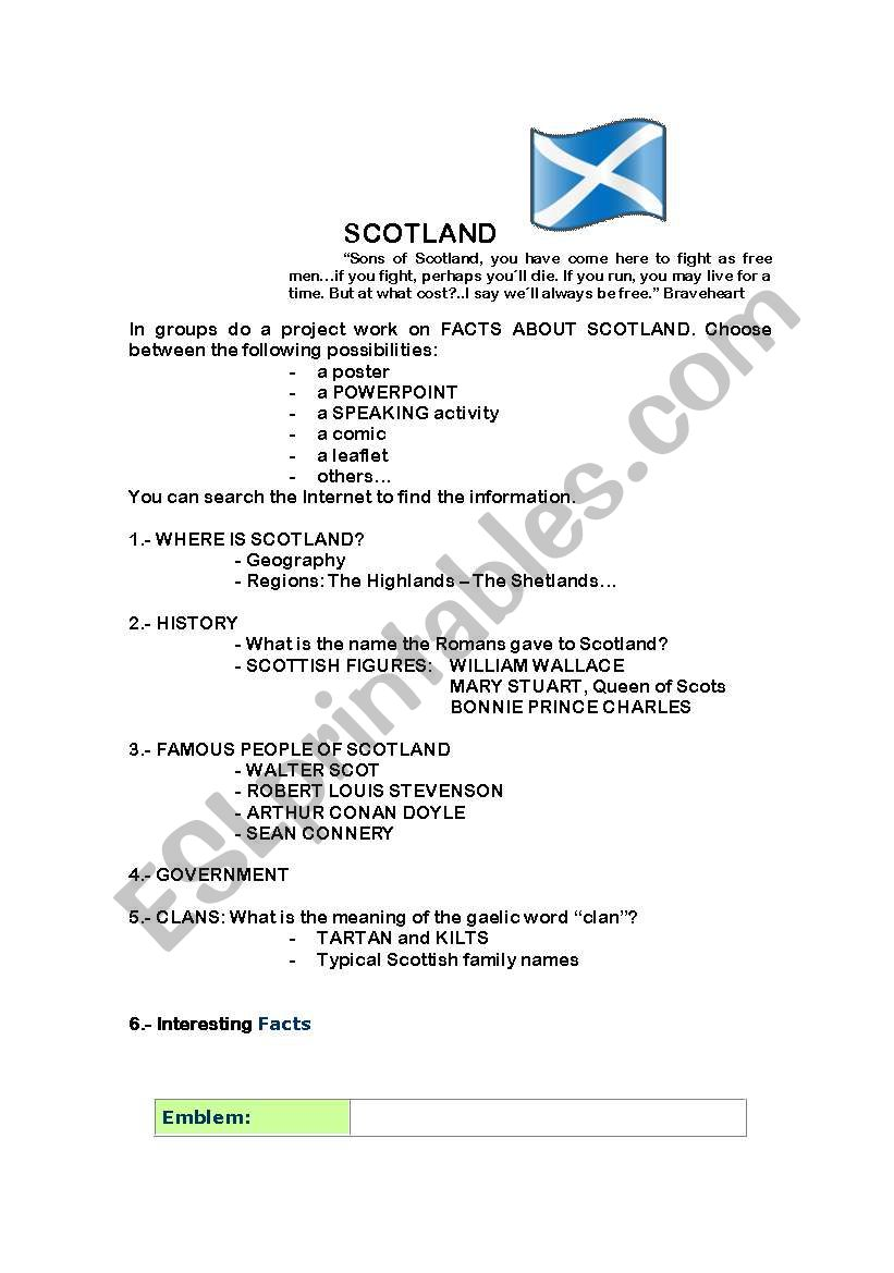 Scotland - customs and traditions