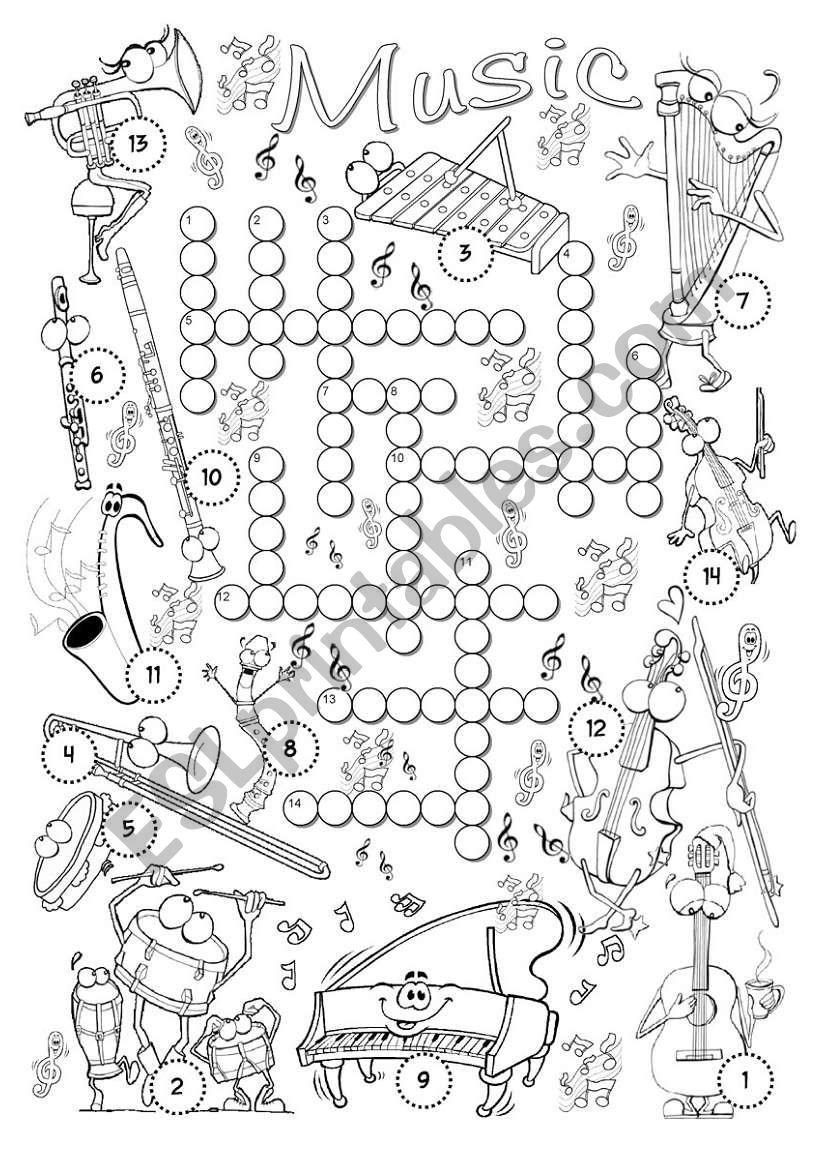 Music Crossword worksheet