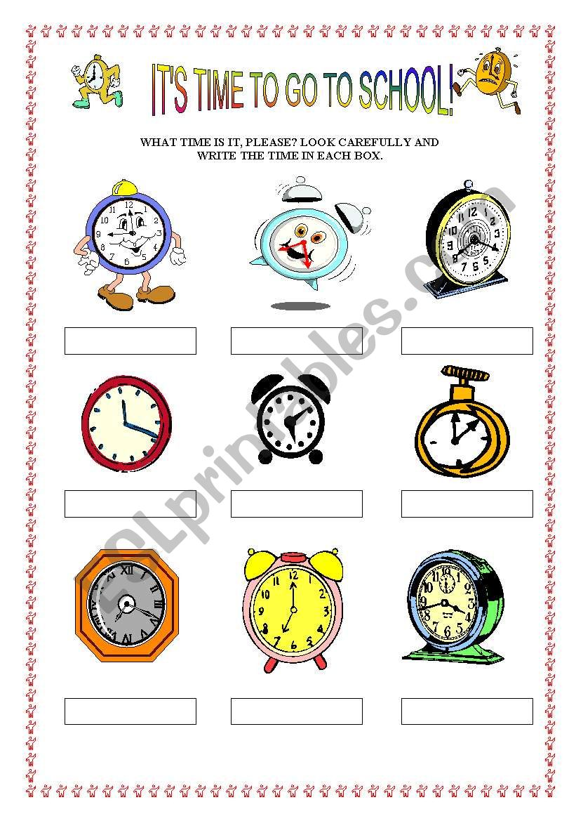 The time(part one) worksheet