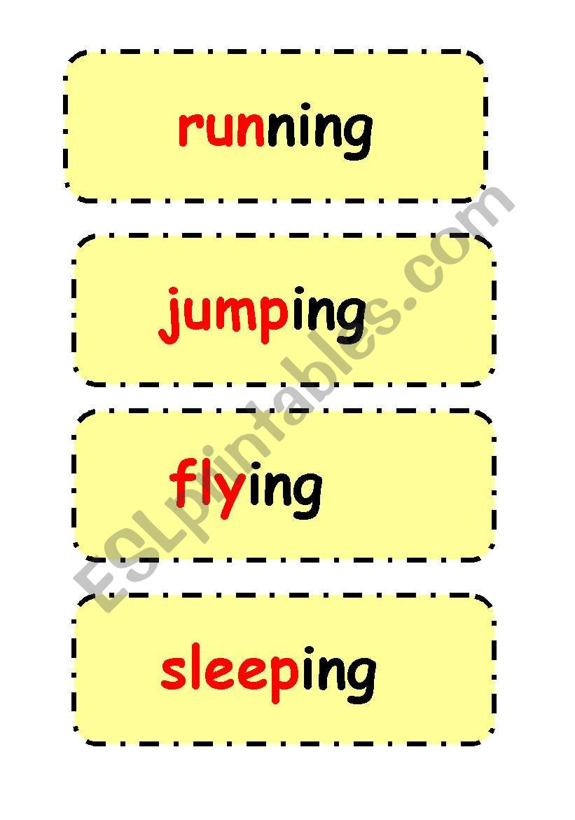 Present continuous sentences worksheet