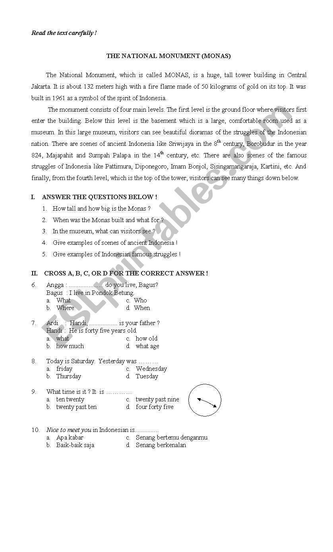 final test for sixth grade - ESL worksheet by cute-teacher