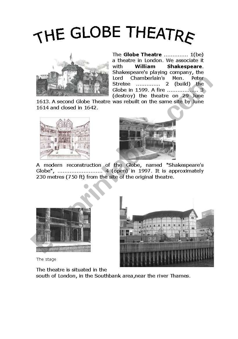 worksheet Globe Theater Worksheet english worksheets the globe theatre worksheet