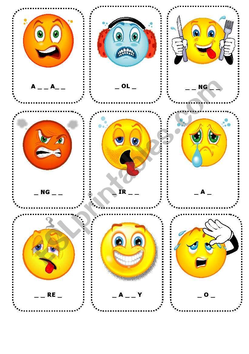 feelings flashcards 1 esl worksheet by cerix64