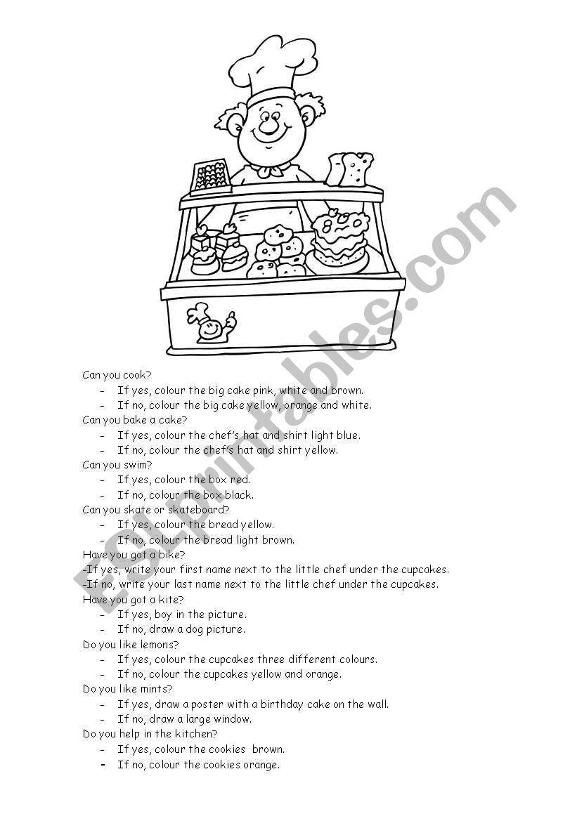 Baker Glyph worksheet