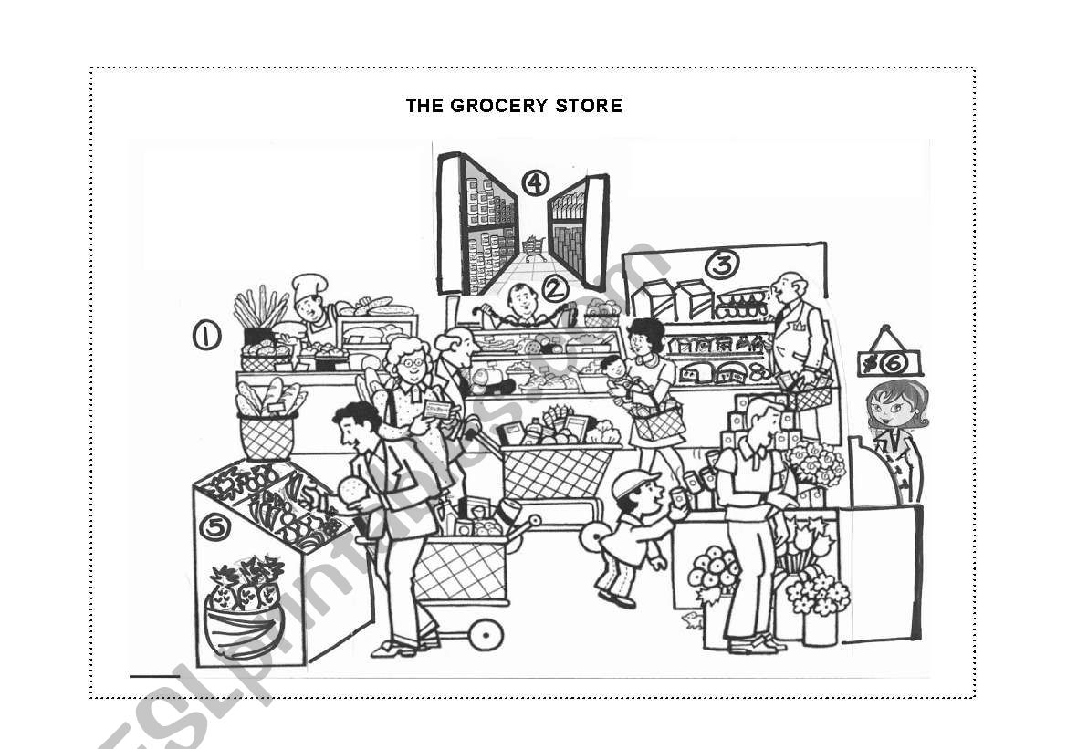 The grocery store page 1 worksheet