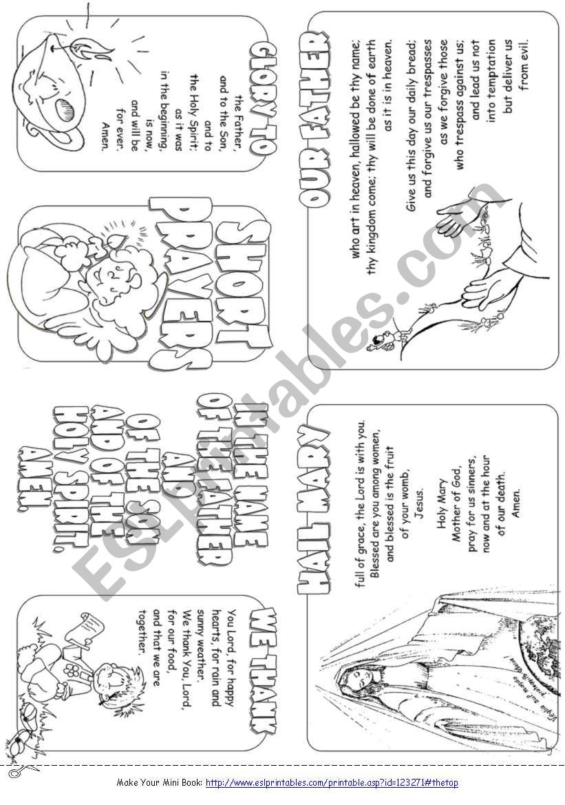 Mini Prayer Book worksheet