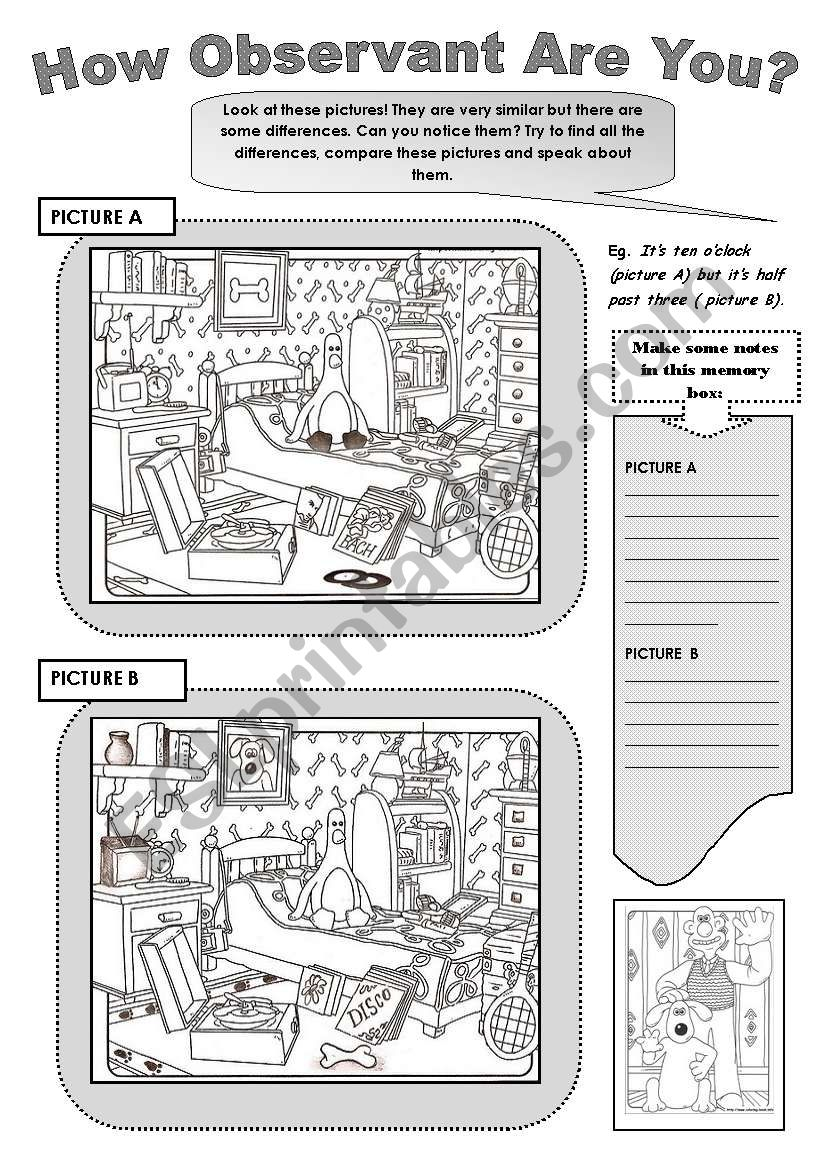 - HOW OBSERVANT ARE YOU?- Fun Speaking Activity - ESL Worksheet By