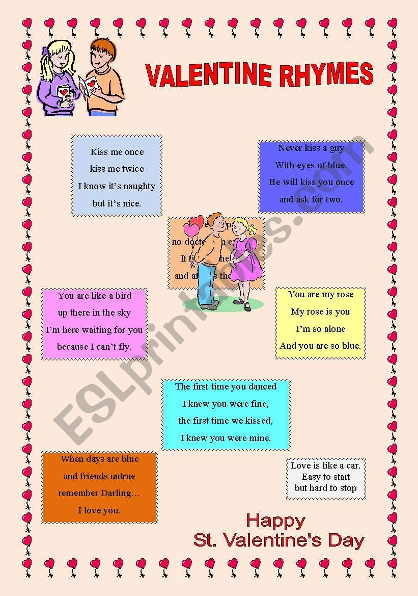 Valentine Rhymes worksheet
