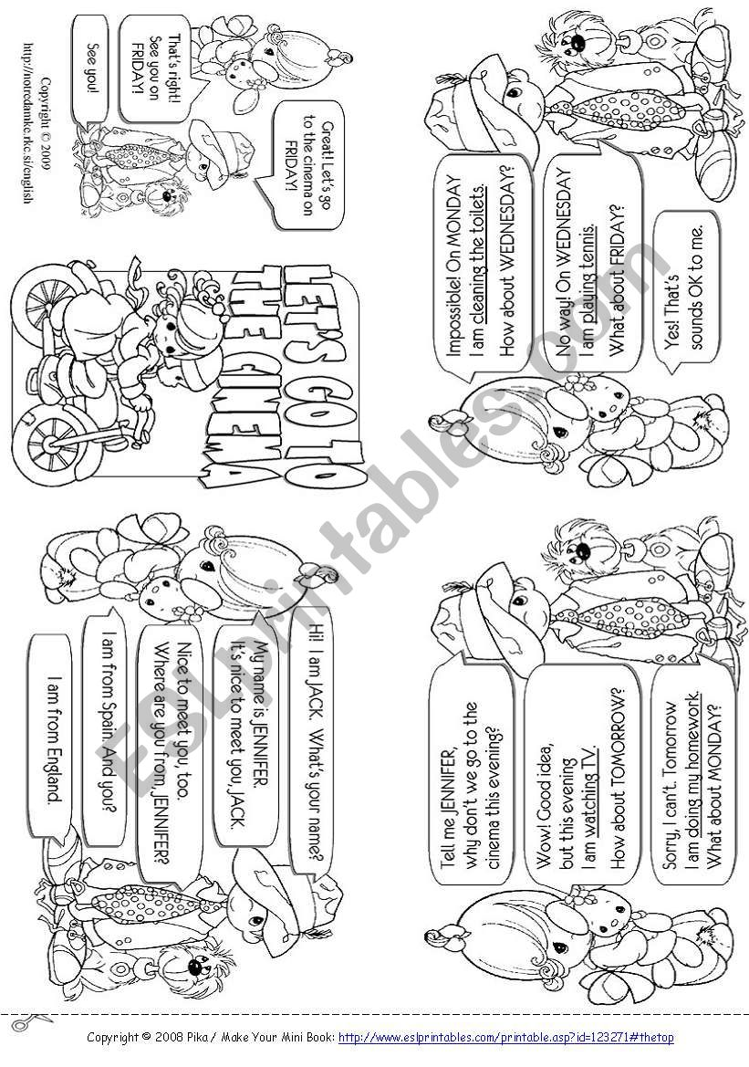 Arrangements Mini Book worksheet