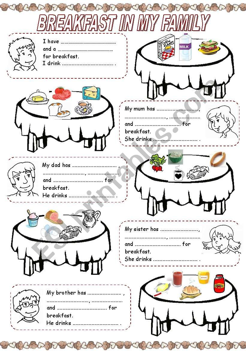 MEALS IN MY FAMILY (1) - BREAKFAST