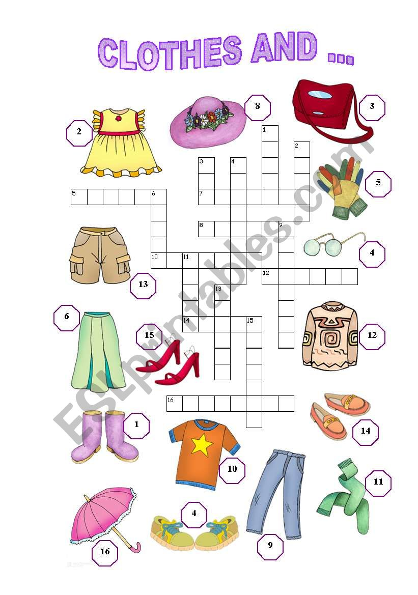 Clothes and ... (3/3) (easy) worksheet