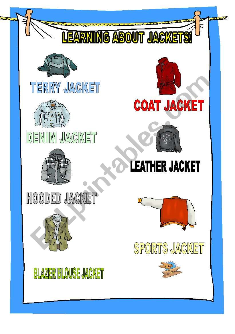 learning about clothes worksheet