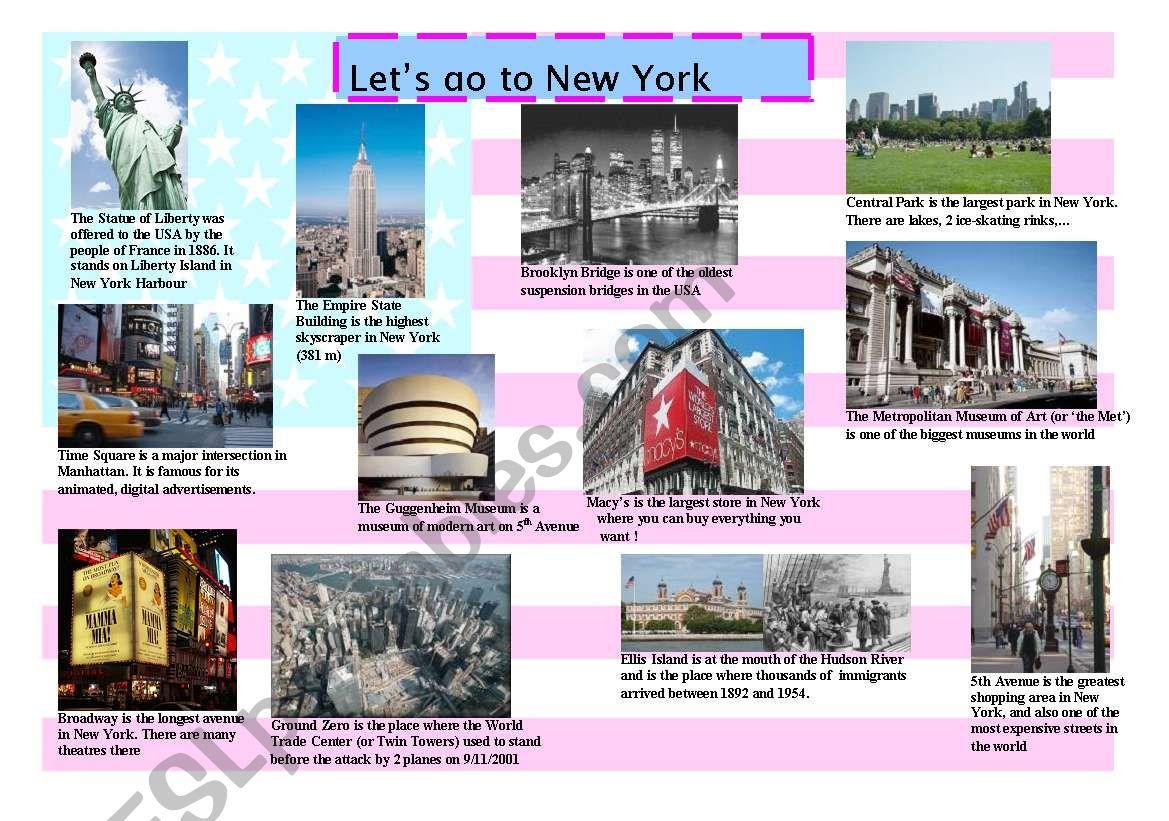 Let´s go to New York ! worksheet