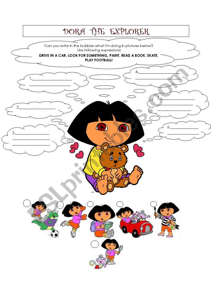 DORA THE EXPLORER worksheet