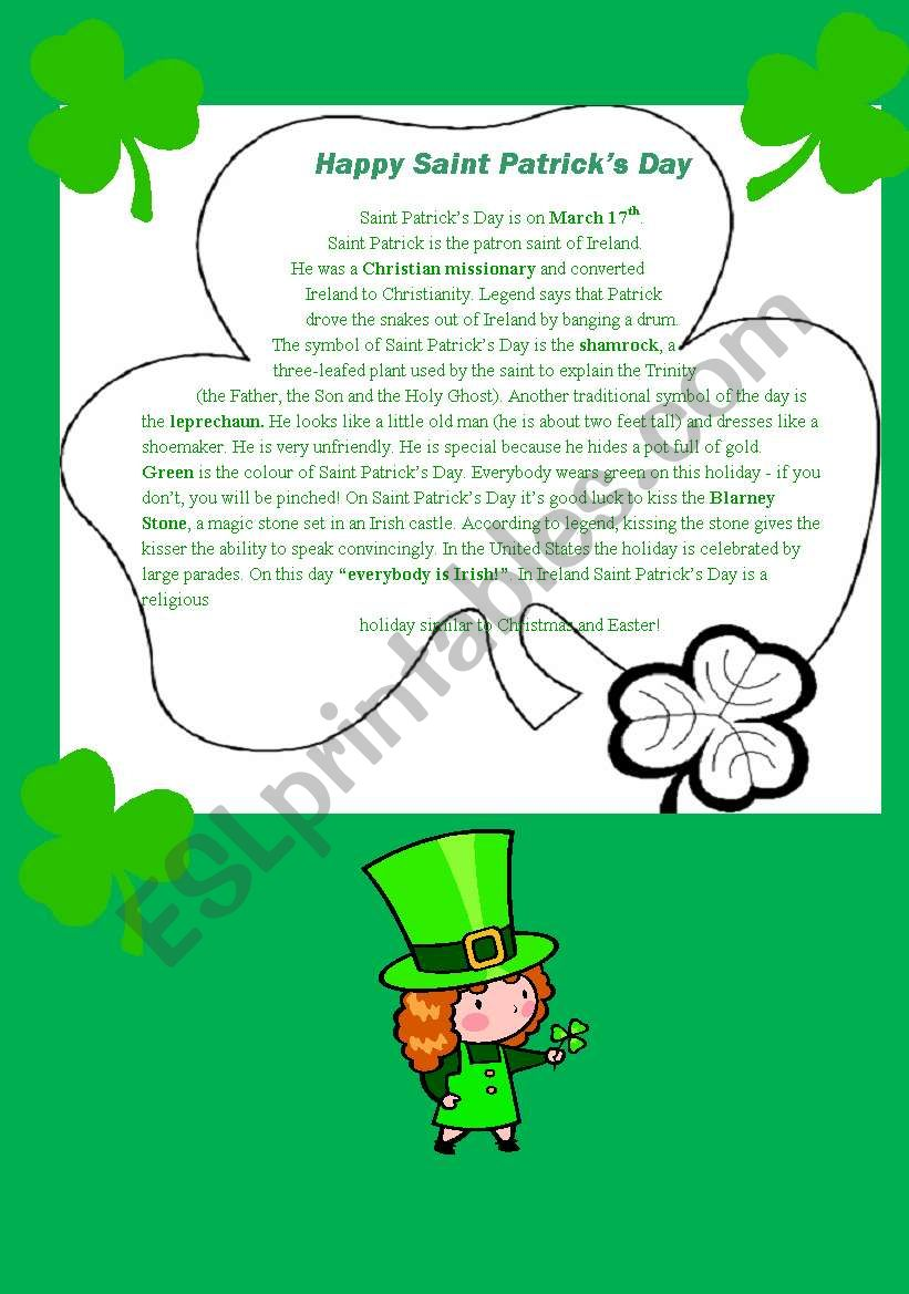 St. Patrick´s Day: a traditional Irish festival