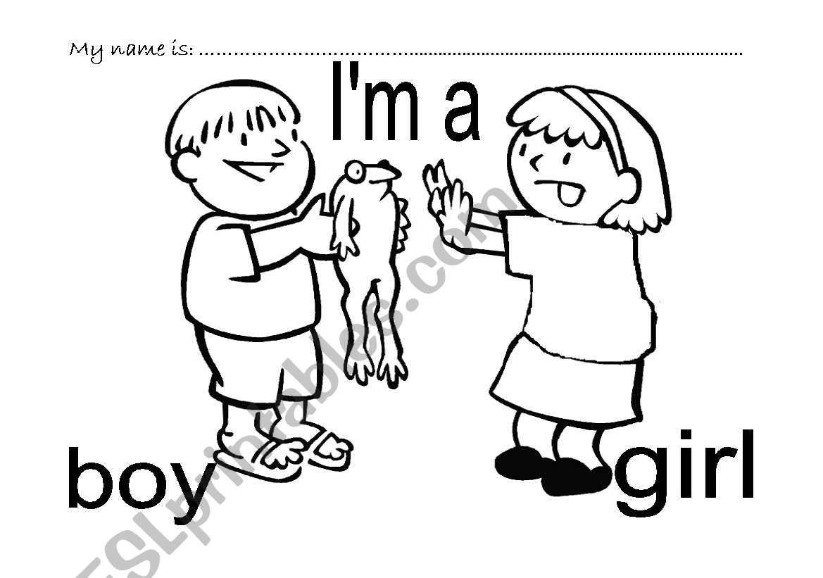 I´m a girl I´m a boy worksheet