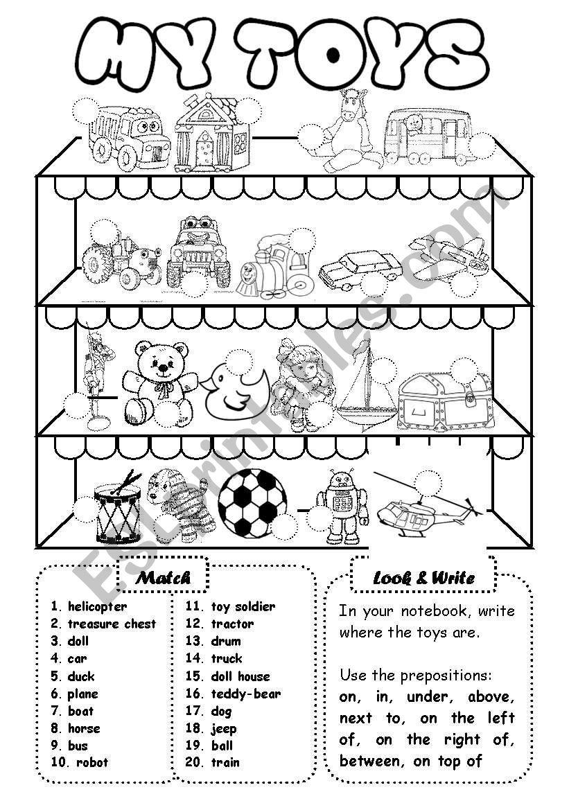 My toys (1) - writing activity