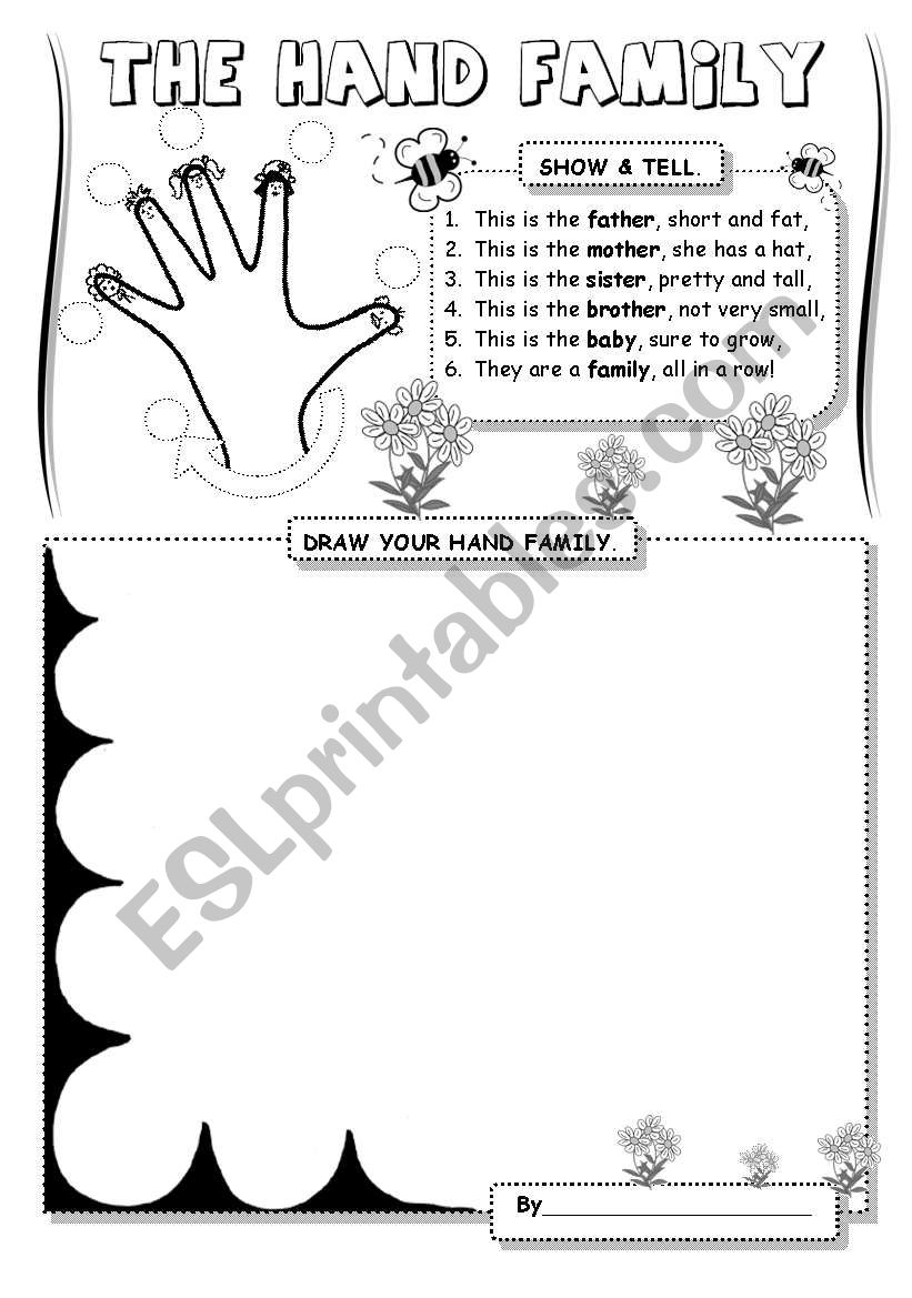 The Hand Family (1) worksheet