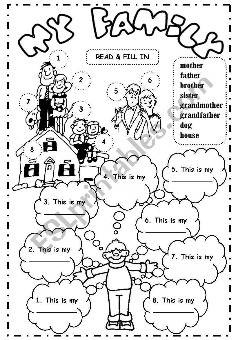 My family (3) worksheet