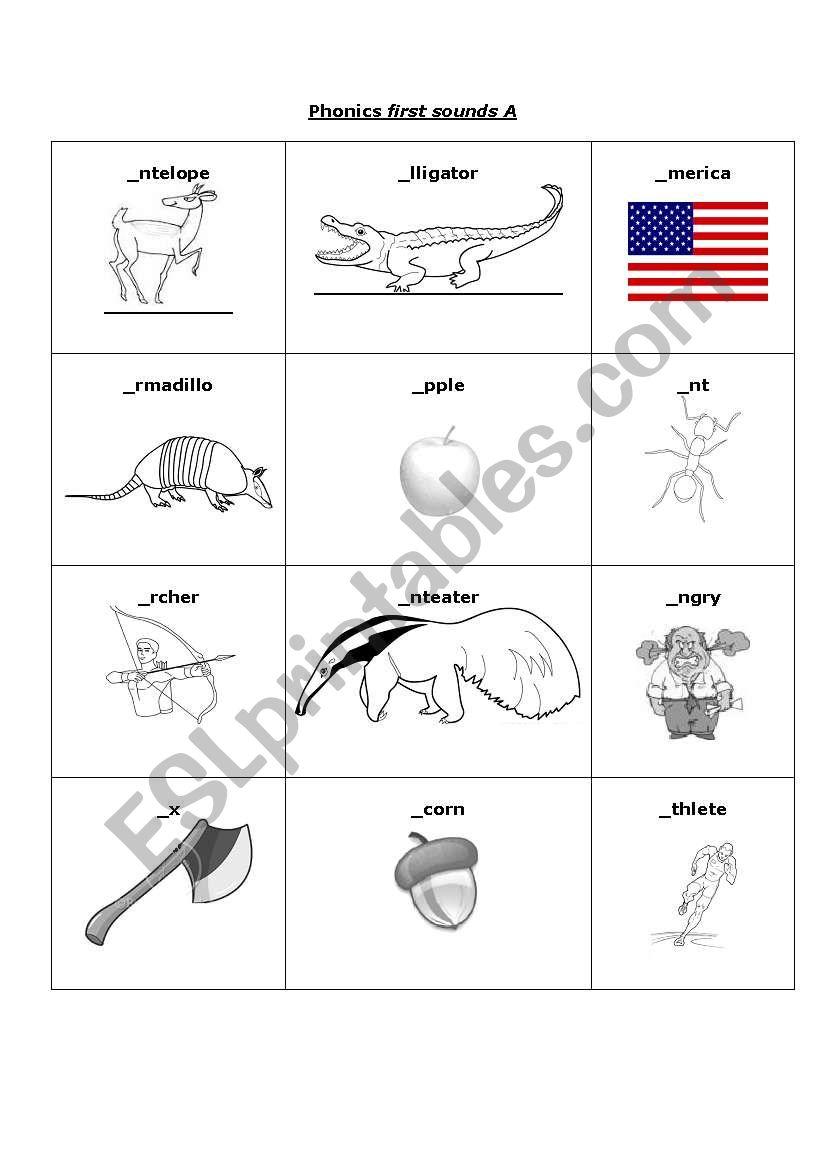 - English Worksheets: Grade 1 Phonics Long & Short I