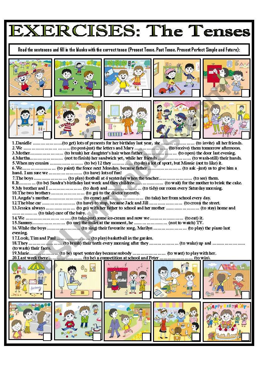 EXERCISES: The Tenses worksheet
