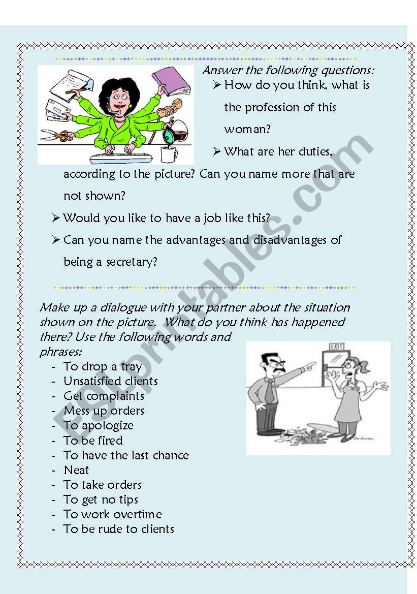 How Challengling a Job Can Be worksheet