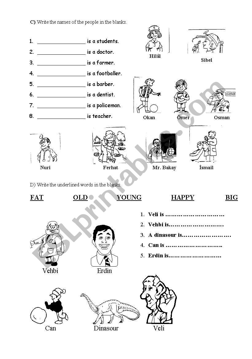 worksheet for young learners about jobs adjectives esl worksheet by source. Black Bedroom Furniture Sets. Home Design Ideas