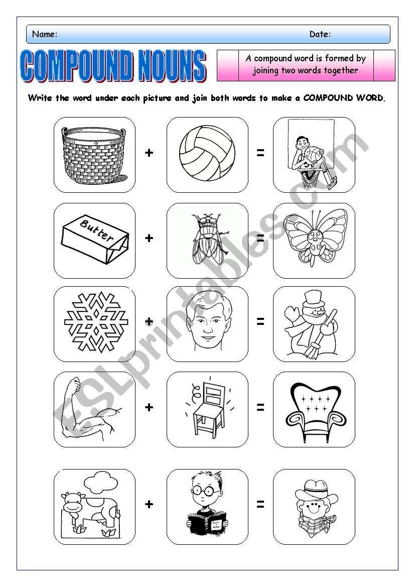 COMPOUNDS NOUNS 1 worksheet