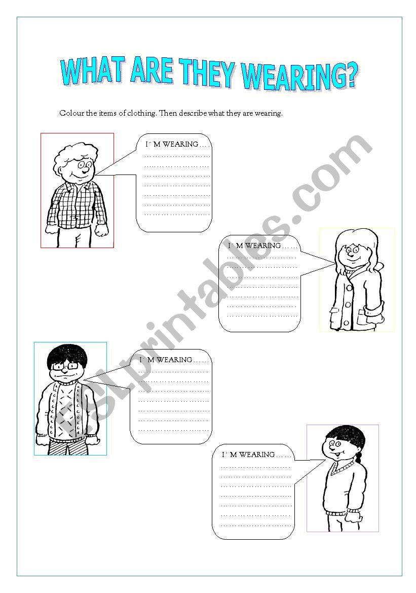 What are they wearing? worksheet