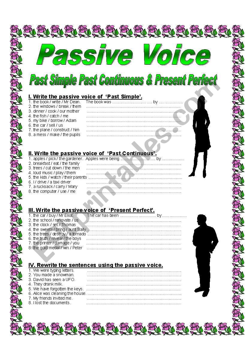 Passive Voice Past Simple Past Continuous Present Perfect Esl