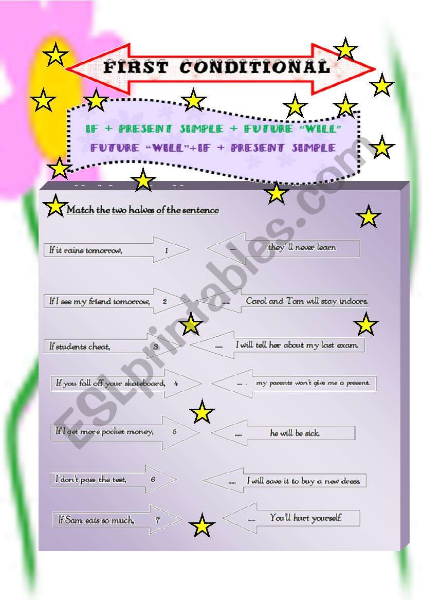 First conditional 1 worksheet