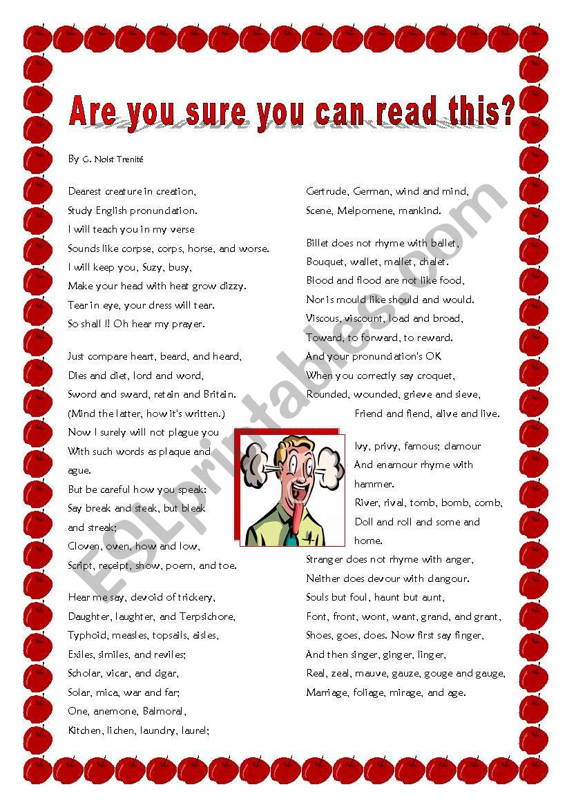 The Most Challenging Poem Ever!