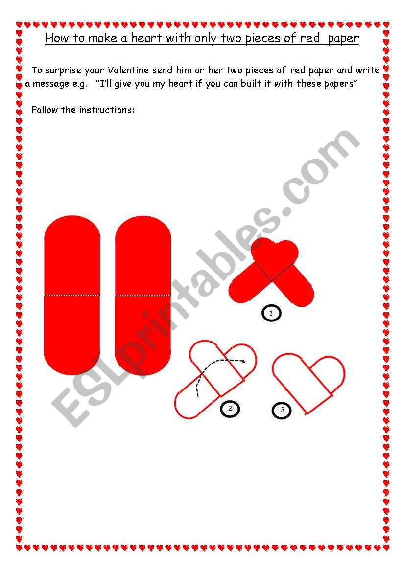 How to make a heart worksheet