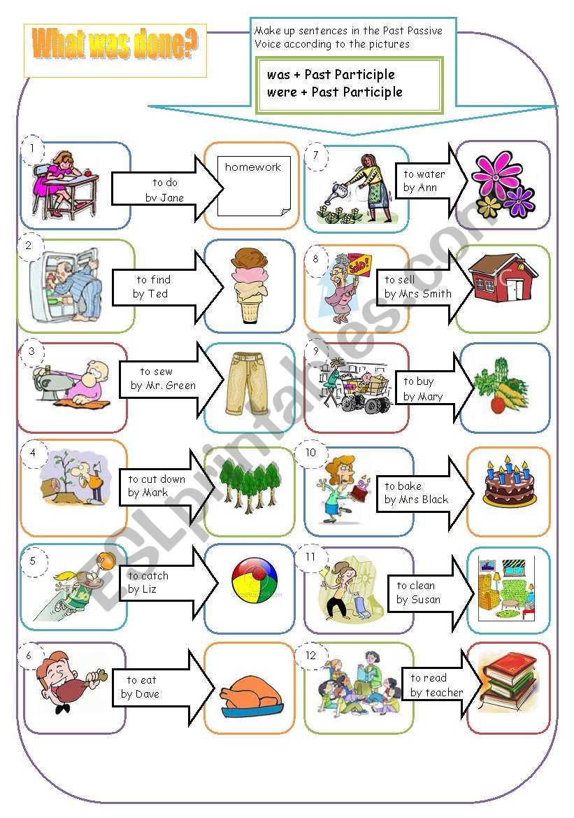 What was done? worksheet