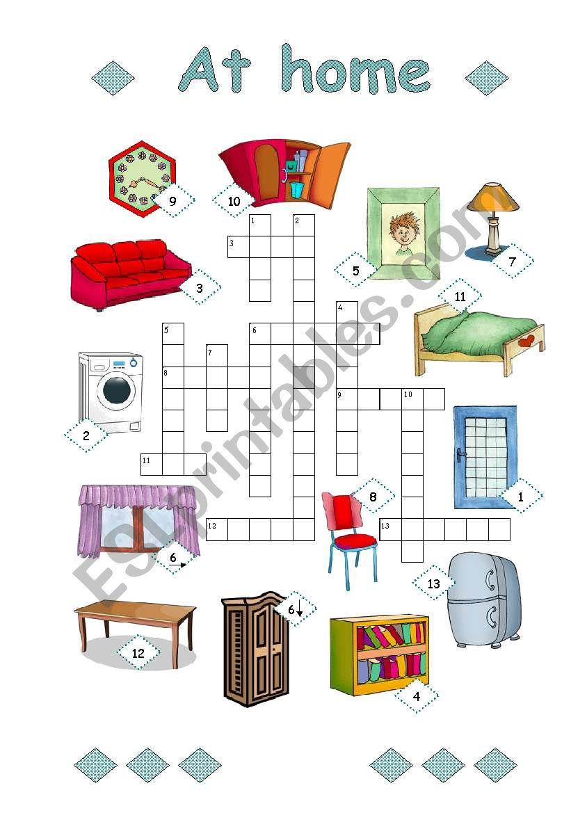 At home (2/3)(easy) worksheet
