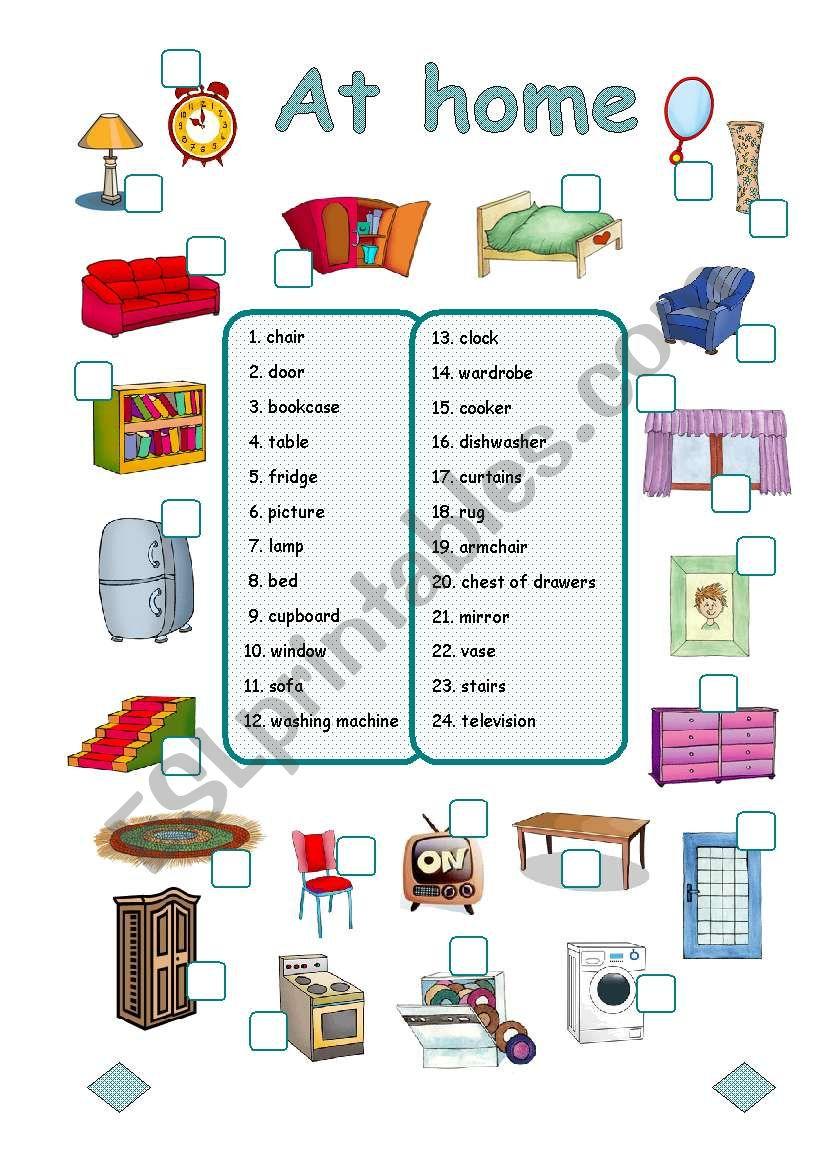 At  home (3/3) worksheet