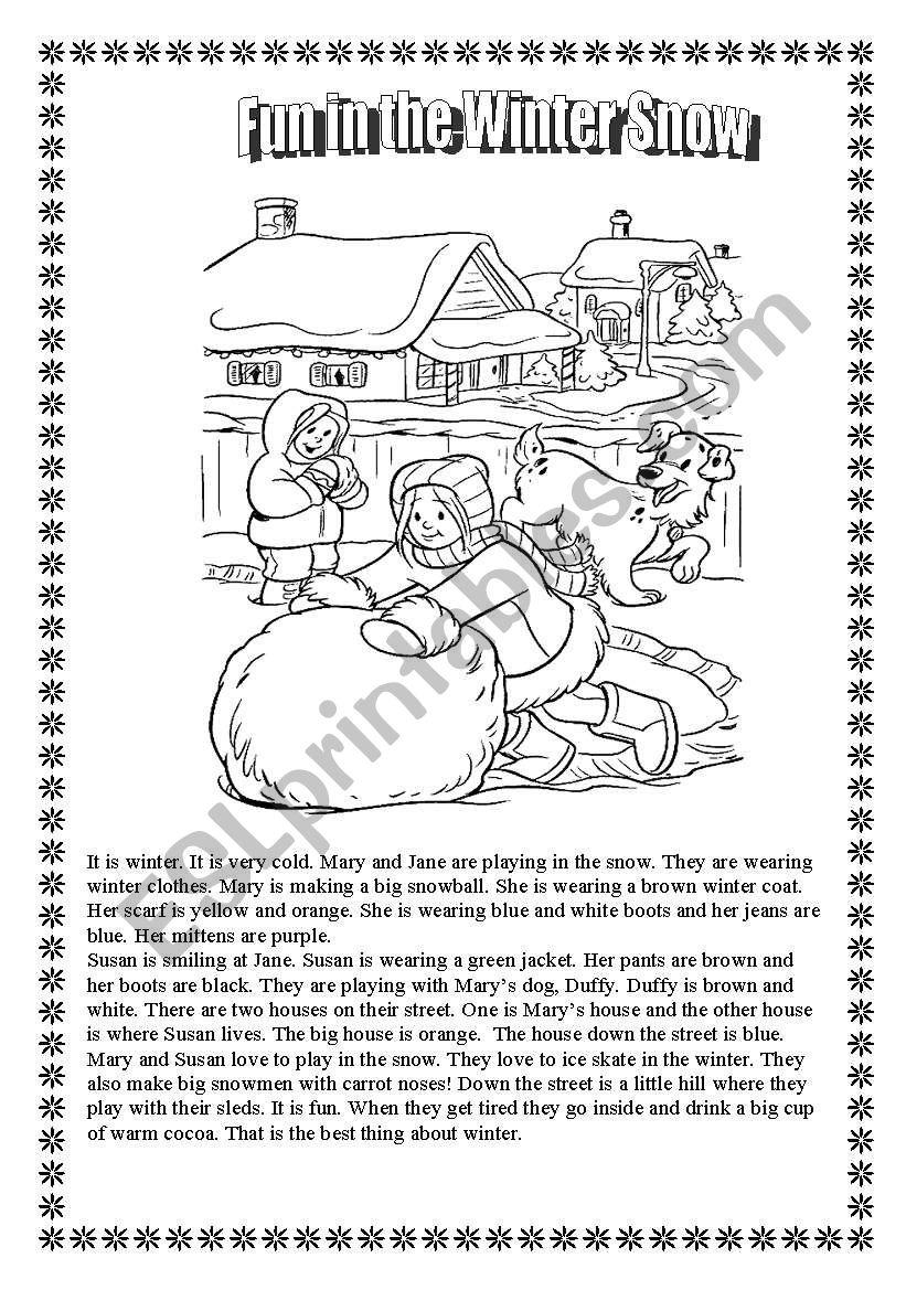 Fun Activity Worksheets : Winter fun activity worksheets