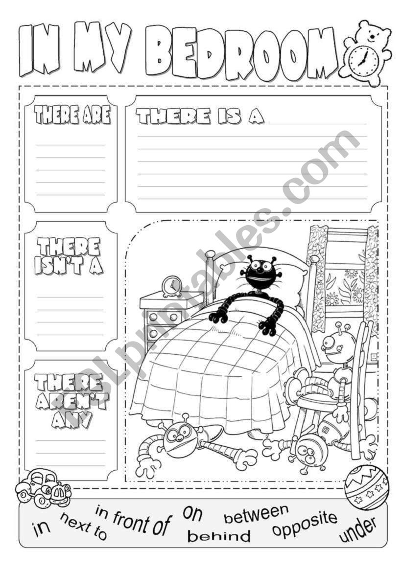 In my bedroom there is ... worksheet