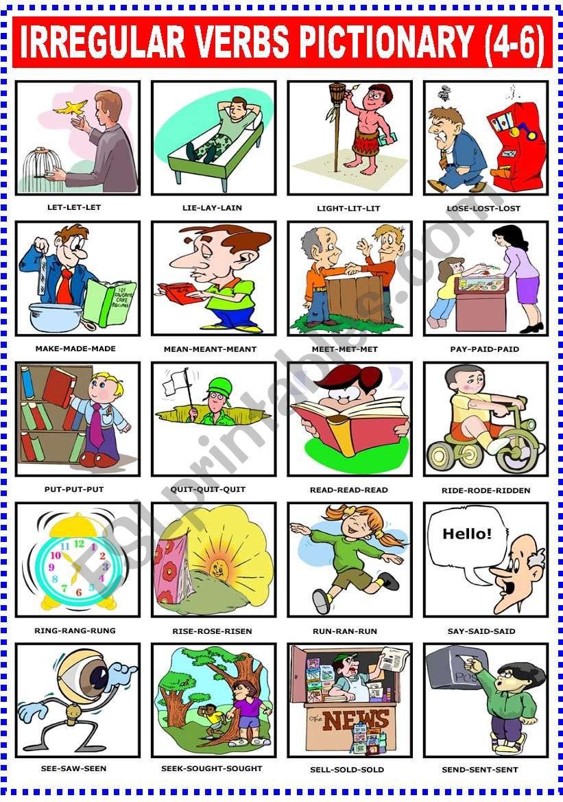 IRREGULAR VERBS PICTIONARY (4-6)