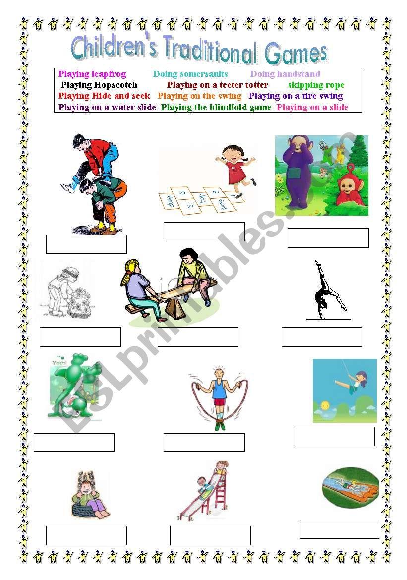 CHILDREN´S GAMES - ESL worksheet by LuciaRaposo