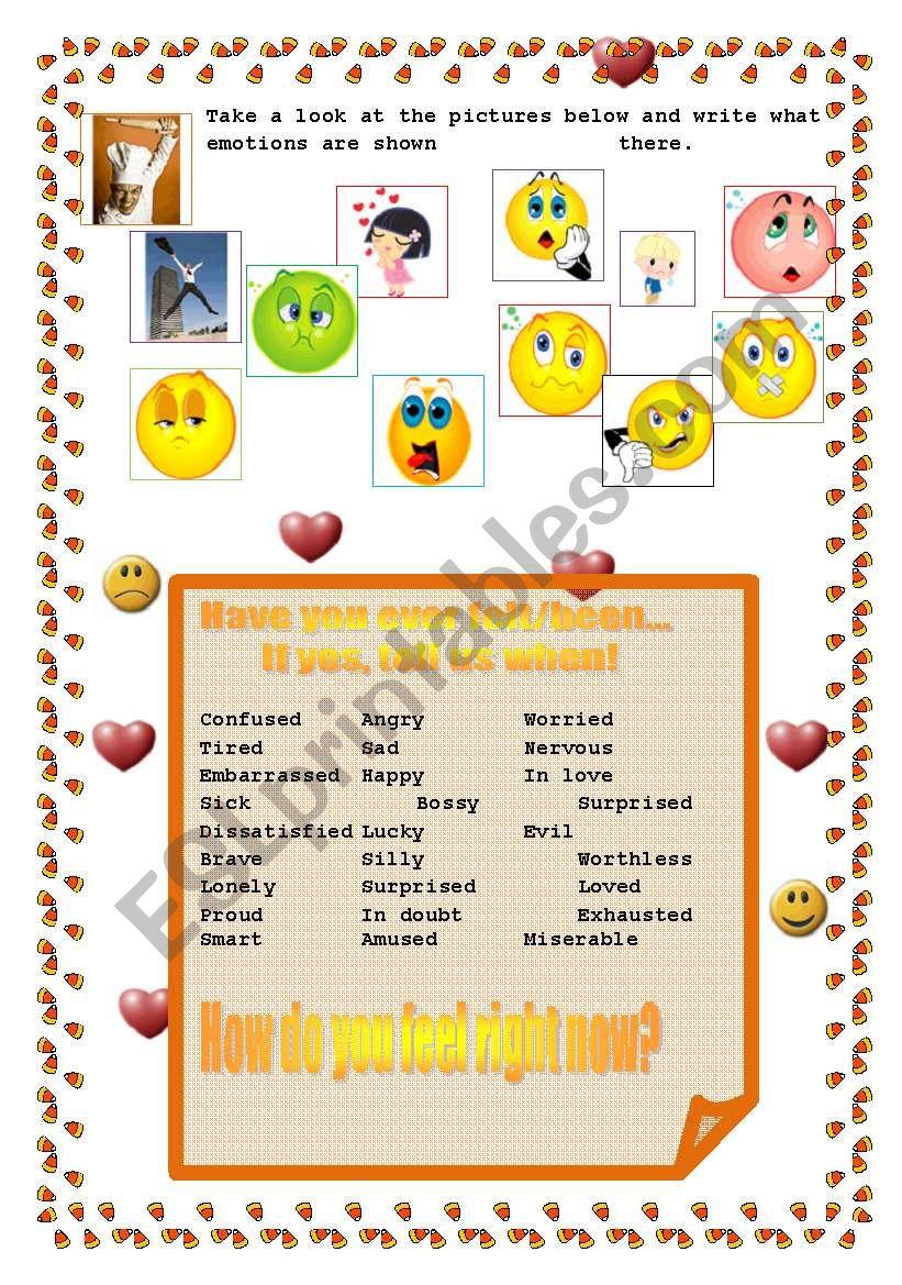 Have You Ever Felt?.. worksheet