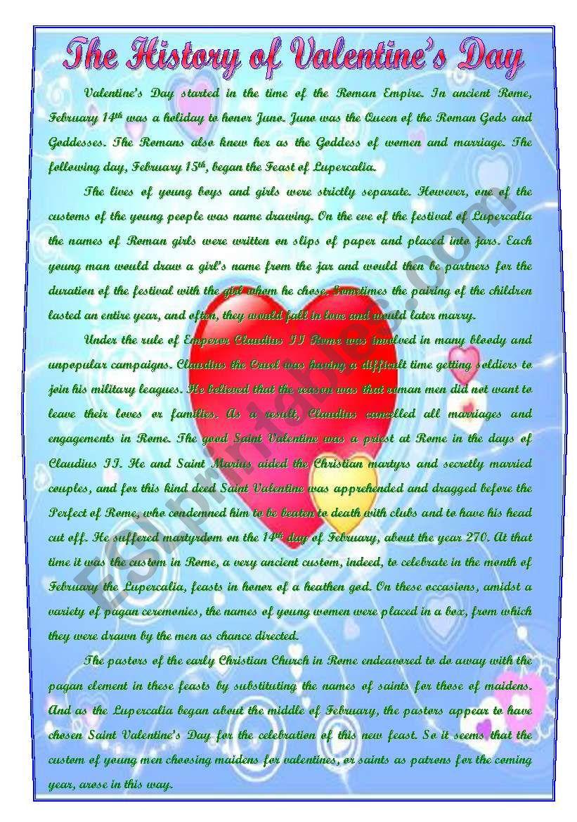 the history of valentine s day esl worksheet by natabut. Black Bedroom Furniture Sets. Home Design Ideas