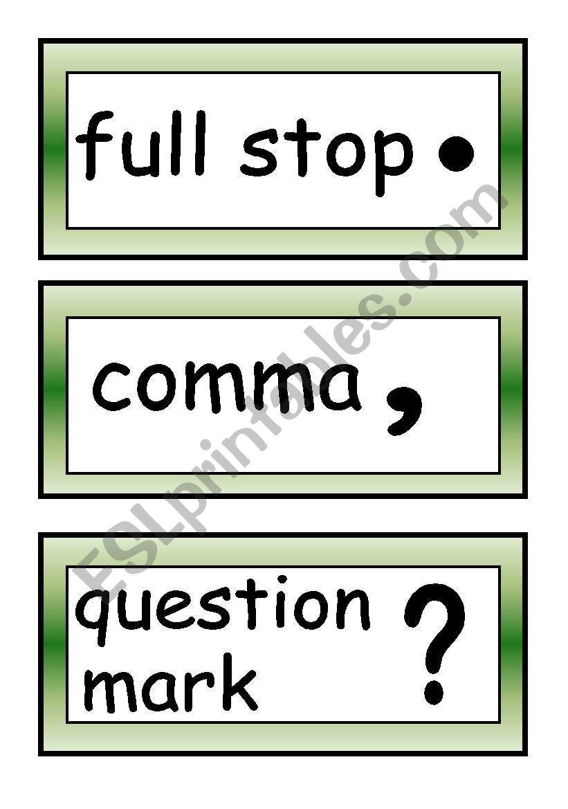 Punctuation marks. worksheet