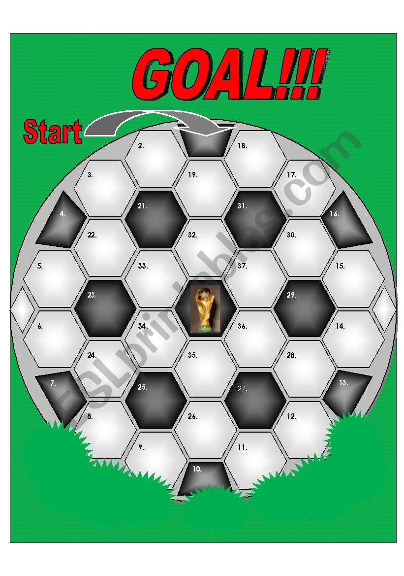 Soccer Ball Gameboard - 37 spaces