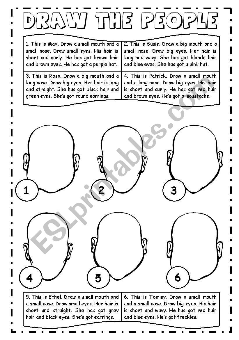 Draw the people worksheet