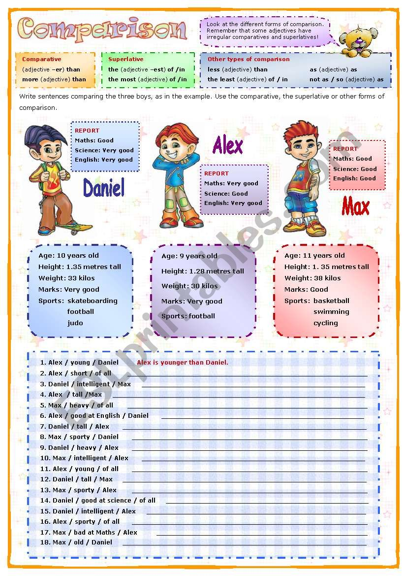 Comparison worksheet