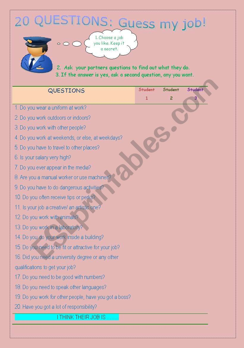 things to ask when playing 20 questions