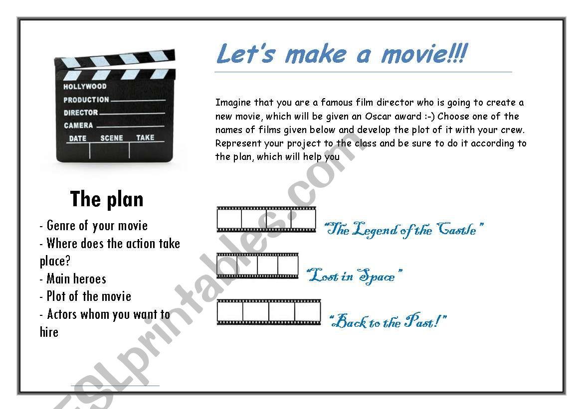 Let´s make a movie! worksheet