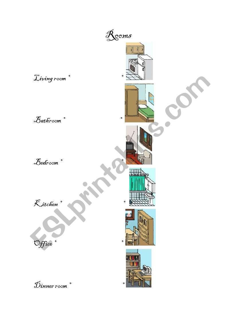 Rooms worksheet